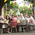 Fellow Street Feaster's enjoying each other's company in The Liberties, Dublin for Street Feast 2016